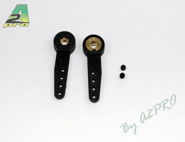 Bras de servo nylon bague laiton 3mm, par 2 (A2P4557)