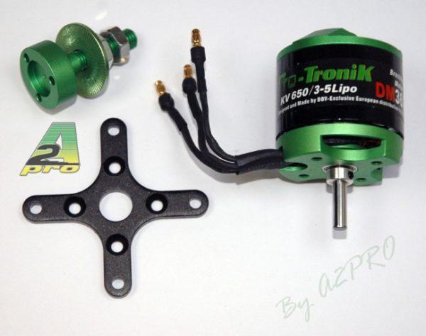 Moteur (257 g.) Brushless Pro-Tronik DM3625 KV650 (A2P73625)