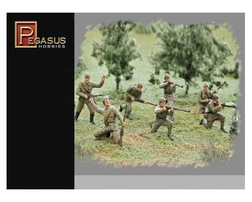 Infanterie Russe en uniforme d'été WWII 1/72 (PEG7268)