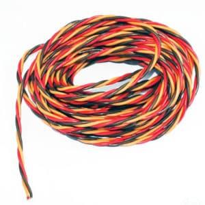 Cable électrique 0,30mm² JR torsadé 5m (A2P10305)