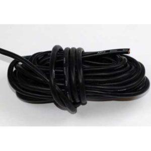 Cable électrique 8,3mm² silicone AWG8 noir 5m (A2P17082)