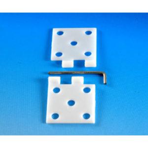 Charnière 16x34mm en nylon – par 5 (A2P6410)