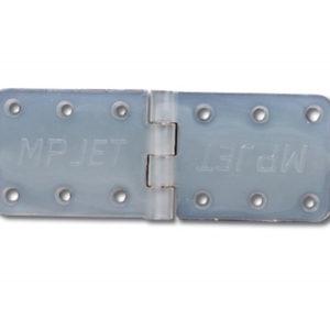 Charnière 10x28mm en nylon montée, par 10 (A2P6444)