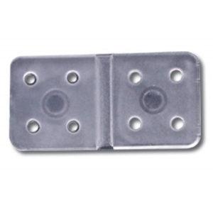 Charnière 10x19mm Mini flex en nylon, par 5 (A2P6451)