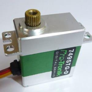 Servo  20,4g. Micro Numérique 7495 TG-D titane (A2P77495)