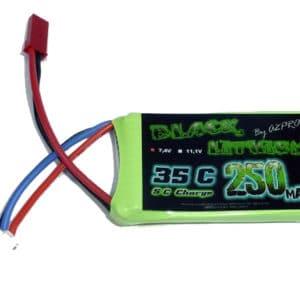 Accu 2S  250mAh 35C 19,8g. ProTronik Black Lithium (A2P9025320) ACCUS LIPO 2S - 7.4V