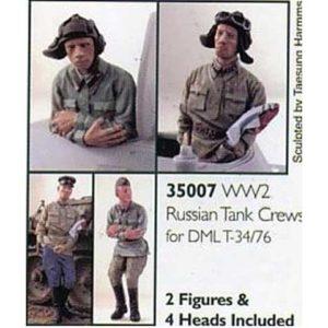 Set de 2 figurines de tankistes soviétiques 1942 (ALP35007) 1/35