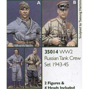Set de 2 fig. tankiste et officier soviétiques (ALP35014) 1/35