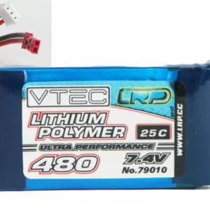 Accu 2S  480mAh 25C 30g. LiPo LRP (AV270079010) ACCUS LIPO 2S - 7.4V