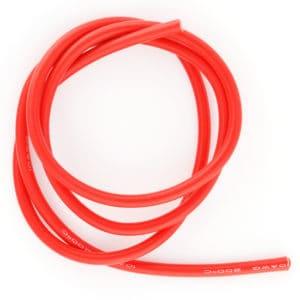 Cable électrique 5,27mm² silicone rouge – 1m (BEEC3010R)