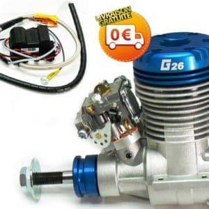 Graupner Moteur essence G 26 (G1903) PROMO