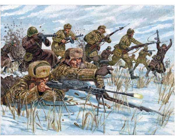Infanterie Russe uniforme Hiver (ita6069) 1/72