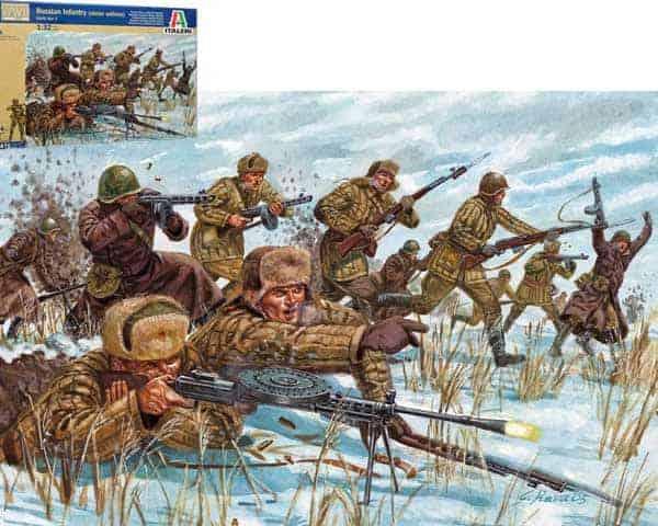 Infanterie Russe 2è Guerre mondiale Hiver (ita6876) 1/32 – 54 mm