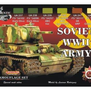 Peinture coffret 6 teintes CHARS RUSSES WWII (MHDLIFECS23)