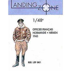 Figurine Officier Français Régiment Normandie-Niémen 1943 (1/48)