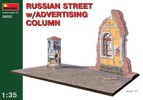 Diorama Rue russe avec colonne publicitaire 1/35 (MHD9736002)