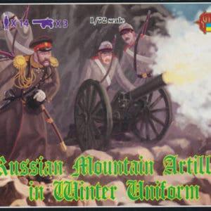 Artillerie Russe de montagne en uniforme d'hiver 1877 – 1/72 (MH PERSONNAGES
