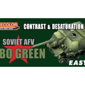 Peinture coffret Soviet AFV 4BO Green (MHDLIFEMS04)