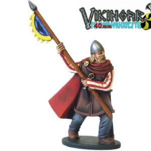 Moule Les Vikings (PA970) : Huscarl avec étendard – 40 mm