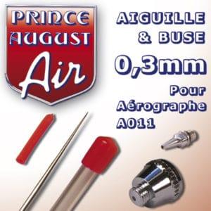 Aiguille et buse de 0,3mm pour Aérographe A011 (PAAA023)