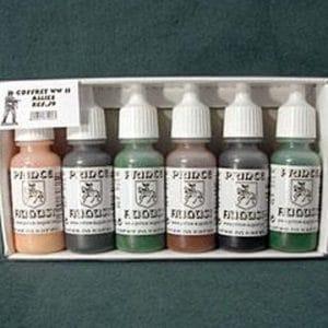 Peinture coffret J 9 Alliés 6 pots PRINCE AUGUST (PAJ9)