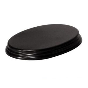 Socle SO43 Ovale 16,5×10,5×2,3cm noir (PA-S043)