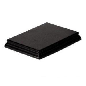 Socle S143 Rectangulaire 17x13x2,3 noir (PA-S143)