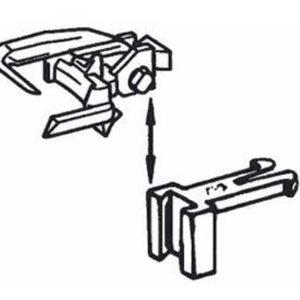Attelages universels ROCO par 12 hauteur réglable 2mm (R40396) ATTELAGES