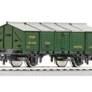 Wagon à couvercle rabattable vert, CSD Rép. Tchèque (R56081)