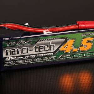 Accu 2S 4500mAh 45-90C 273g. LiPoNano Turnigy (T4500.2S.45) ACCUS LIPO 2S - 7.4V