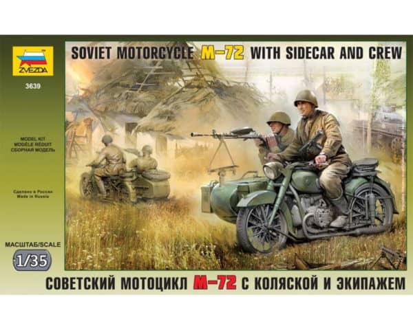 Moto sidecar soviétique M-72 (zvezda-3639) 1/35
