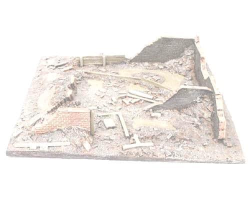 Décor des ruines Bataille de Stalingrad hiver (SFCONF6506)