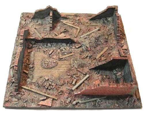 Décor des ruines Bataille de Koursk en été (SFCONF6507A)