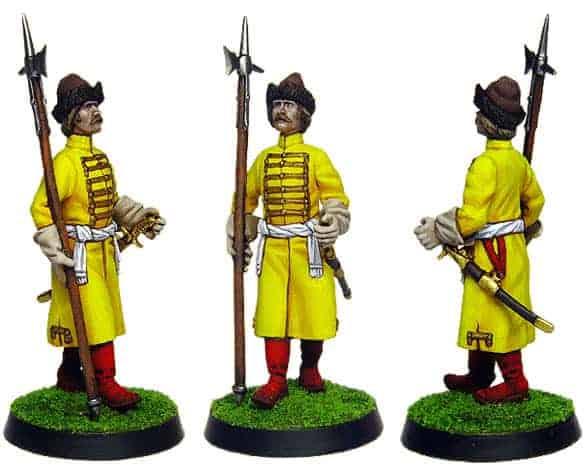 Figurine à peindre: Chef Strelets de Moscou du 6è Prikaz (1105)