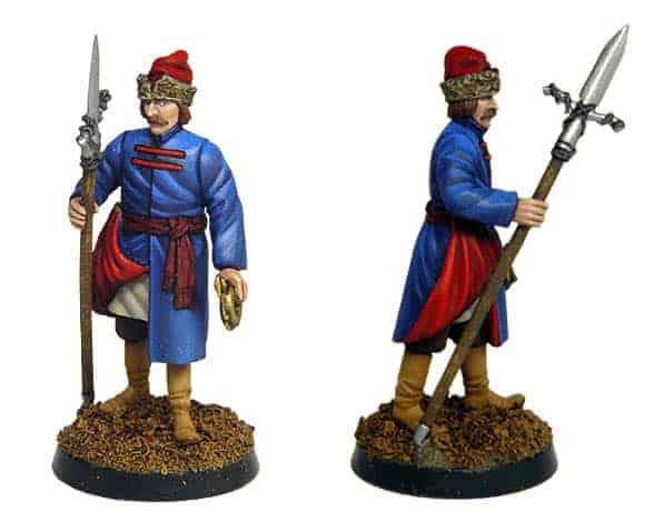 Figurine à peindre: Artilleur de Moscou, 17è siècle (dbm1110)
