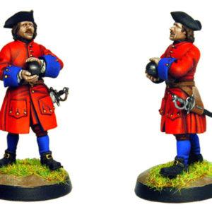 Figurine à peindre: Artilleur Russe de 1704 (dbm1211)