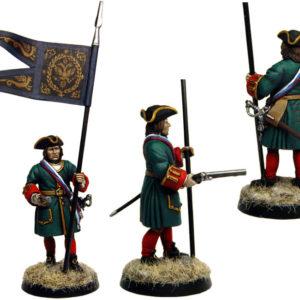 Figurine à peindre: Porte-drapeau Russe, 1704 (dbm1224)
