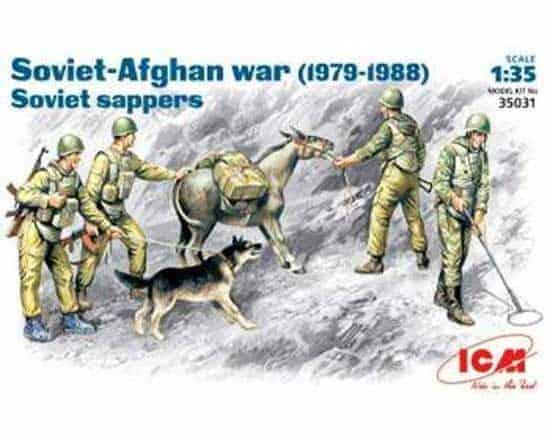 Sapeurs soviétiques guerre d'Afghanistan (icm35031) 1/35