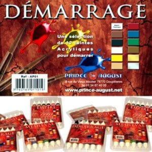 Peinture pack AP01 Démarrage 12 pots PRINCE AUGUST (PAAP01)