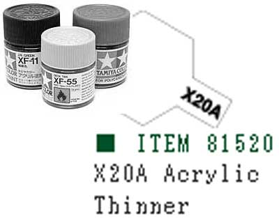81520-X20A Peinture Tamiya 10 ml – Diluant acrylique (T2MX20A)