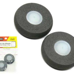 Roues 31mm extra légères – 1,10 g. Dubro, par 2 (SF133125MW)