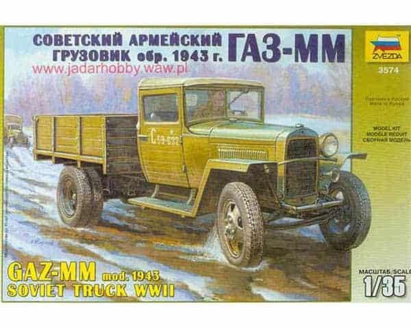 Véhicule GAZ-MM mod.1943 WWII Soviet Truck (zvezda-3574) 1/35