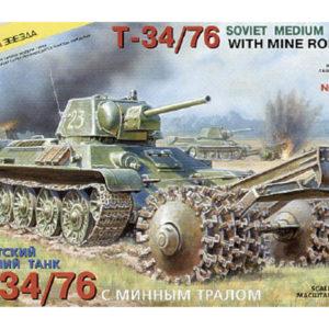 Char moyen soviétique T-34/76 démineur (zvezda-3580) 1/35