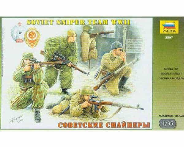 Tireurs d'élite soviétiques (zvezda-3597) 1/35
