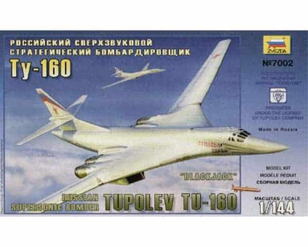 Bombardier soviétique Tu-160 (zvezda-7002) 1/144