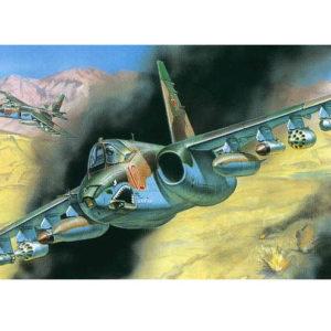 Avion d'assaut soviétique SU-25 (zvezda-7227)